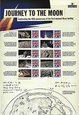 Gb Smilers Sheet Journey To The Moon Cs4 Post Free To The Uk.