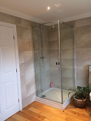 shower tray, shower enclosure and Chrome Thermostatic Single Lever Mixer
