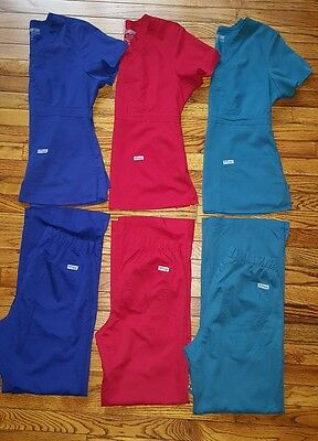 Greys Anatomy Scrubs Lot 3 sets M Tops, XS Pants Medical Uniform Sets Women's