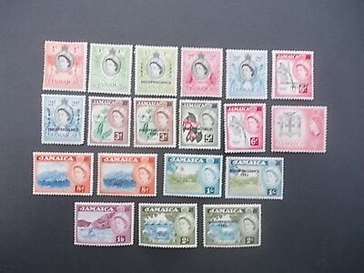Jamaica,qeii 1956 Onwards Plus Ovpts,mint Hinged.