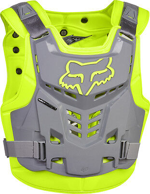 NEW FOX RACING Yellow Grey Proframe Adult Body Armour Chest Protector Motocross