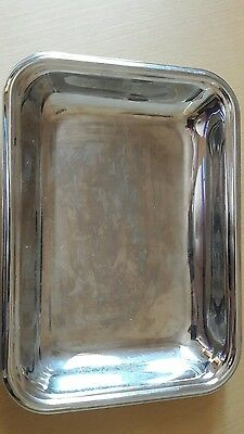 Old hall serving tray stainless steel perfect condition