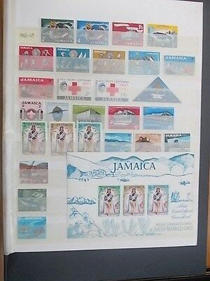 Jamaica,qeii 1962 To 1969 Almost Complete,mint Hinged.3 Images.