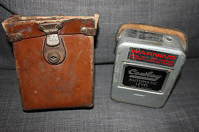 Vintage Cowley automatic level with leather case