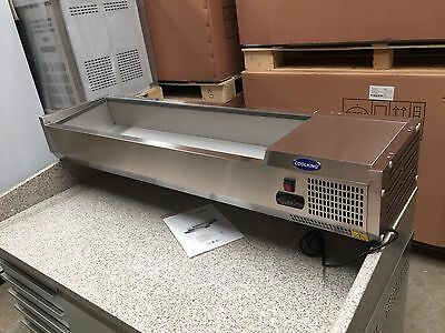 VRX1200/330 1.2m Stainless Steel 5x1/4GN Size PREP TOP cold bar only