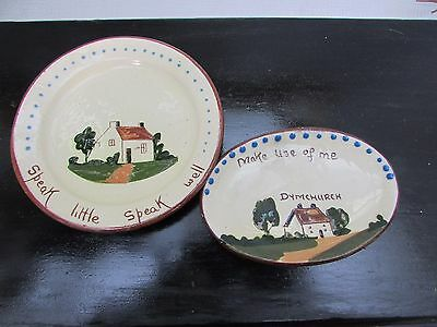 Vintage Motto Ware Dishes,  Dymchurch, Whitstable Pottery (?)