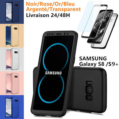 Coque Etui Housse 360° Protection Smasung Galaxy S8 / S8 Plus + Film Protection