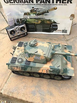Heng Long Large 1:16 Scale R/c Ww2 German Panther Tank With Lights, Smoke, Sound