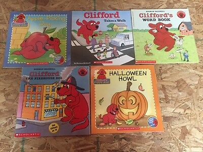 Lot Of 5 Clifford Children's Books #3469