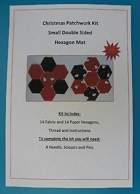 Patchwork Kits - Small Double Sided Hexagon Mat - Christmas, ladybird, floral