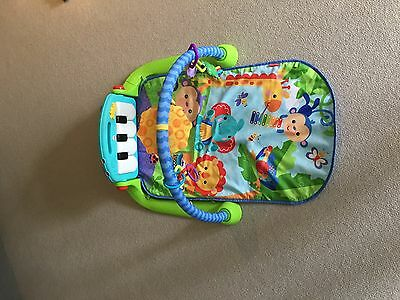Fisher-Price Kick and Play Piano Gym - Music and sounds - infant baby play mat!!
