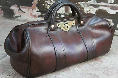 Superb Antique Heavy Duty Bank Bag Gladstone Bag