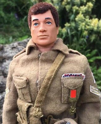Action Man in British Infantryman uniform & medal