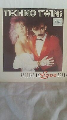 "Techno Twins - Falling In Love Again     7"" Vinyl Ps Nm / G"
