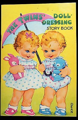 "Un-Cut Paper Doll Book  ""The Twins"" - The Untidy Nursery, Dean Ltd. Tony & Bety"