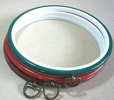 "1 x 8"" Coloured Plastic Flexi Hoop With Hanger Cross Stitch Embroidery Display"