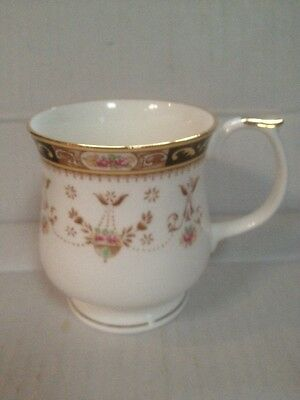 Queen's Fine Bone Chine Mug gilt Detailing floral pattern