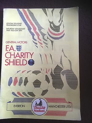 Everton V Manchester United Charity Shield Programme