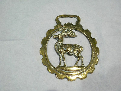 VINTAGE HORSE BRASS  Standing Stag