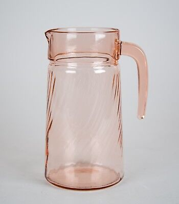Cristal d'Arques Rosaline Pink 48 oz. Pitcher, Swirl Optic