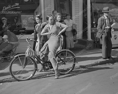 Bicycle Don't Write Telegraph Window Sign 1937 Vintage 8x10 Reprint Of Old Photo