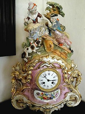Pendule Ancienne Porcelain Old Paris 1820;mantle Clock,napoleón.museum Vacheron