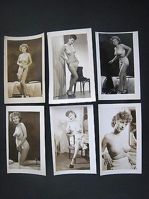 ORIGINAL 1950S  PINUP PHOTO LOT OF 12... # 567-234..Risque,Nude