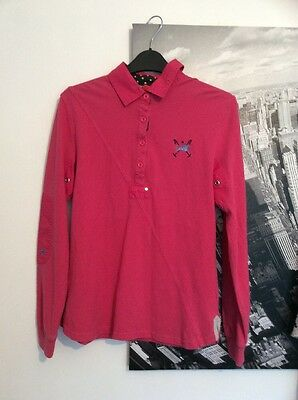 Ladies Tottie Rugby Shirt /top Size Med