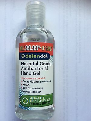 Defendol Hospital Grade Antibacterial Hand Gel British Standards En1040 & En1500