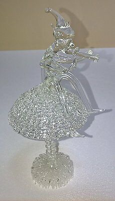 Delicate Cut Glass Pixie on Toadstool