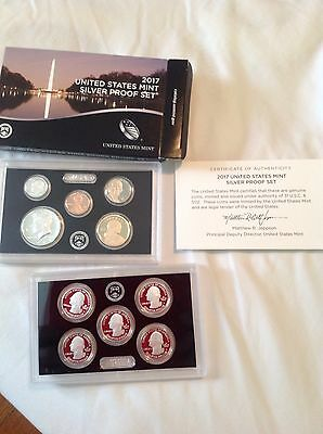 2017 US Mint Silver Proof Set Coins