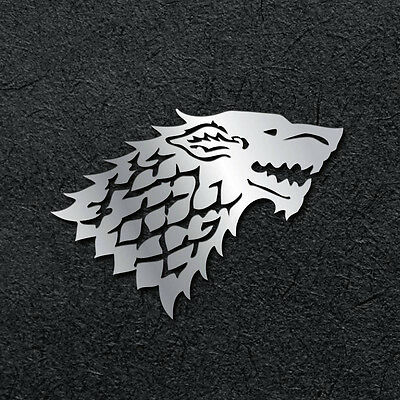 Game of Thrones Stark Metal Sticker Decal for cellphone mobile laptop (silver)