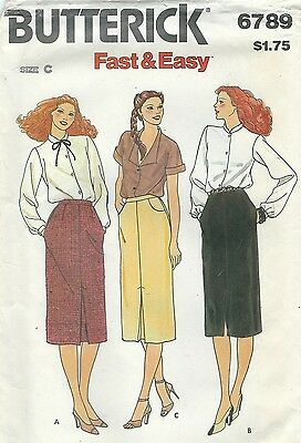 Butterick 6789 Misses' Skirt *Extremely Rare*      Sewing  Pattern