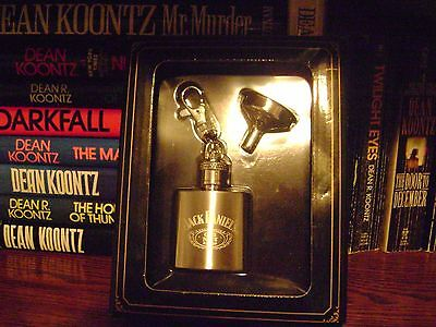 Jack Daniels Old No 7 Mini Key Chain Flask Set In Box