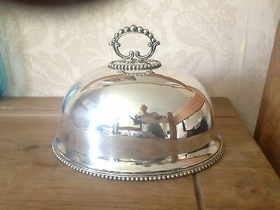 Silver Plate Antique Victorian Food Cover Lid Dome