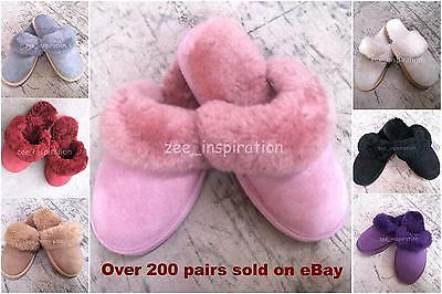 New Women Sheepskin Scuff, Slipper ( 7 Colours, Size from 5 to 10)