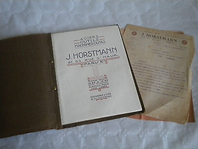 vintage catalogue 1920 J Horstmann Drills and workshop tools machinary