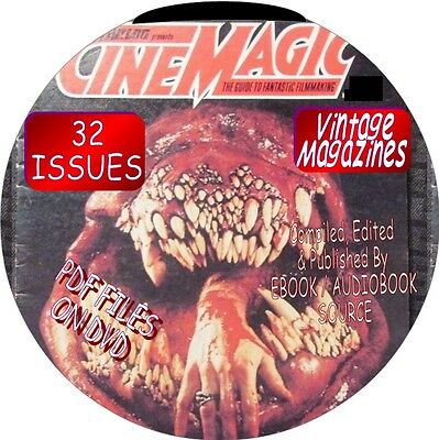 Cinemagic Vintage Magazines - 32 Issues - Pdf Files - On Dvd - Horror Films