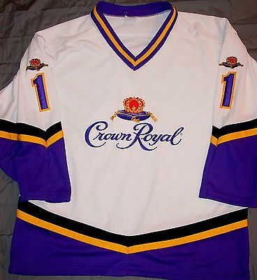 Ultimate Rare Fully Embroidered Crown Royal Whiskey Jersey - Size Xl