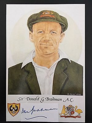 Don Bradman Signed Limited Edition Cricket Card