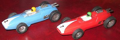Rare 1960s French MARX Vintage Slot Cars 2 x Working racing cars