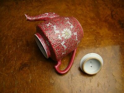 Chinese Porcelain Famille Rose Enamelled Teapot with Bats