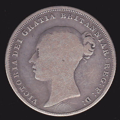UK Britain 1838 Shilling Good+ 1st Year of Queen Victoria British Silver Coin