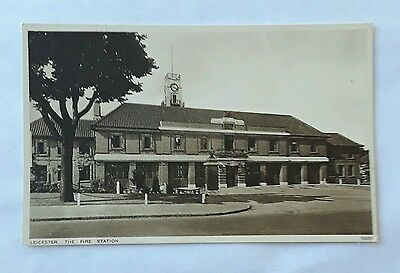 Leicester - a photographic postcard of the New Fire Station