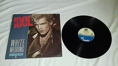 "Billy Idol 12"" - White Wedding - Chrysalis records - 1985"