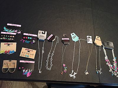 Young Girls Jewelry Necklace Earring Lot Of 14 pieces- new with tags