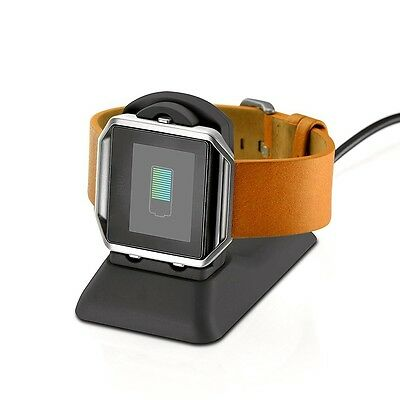 Fitbit Blaze USB Charger Adapter Charging Station Holder Dock Portable Travel