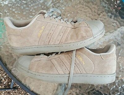adidas berlin trainers grey suede shell toe  size 10.5