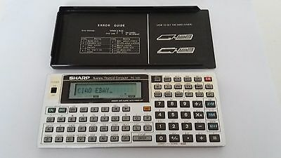 Pocket computer Sharp PC 1421 vintage Financial business Calculator calcolatrice