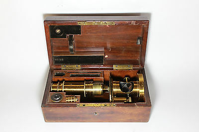 RARE Schiek in Berlin Microscope №1018 Mikroskop 1860 Antique